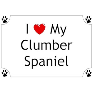 Clumber Spaniel T-Shirt - I love my