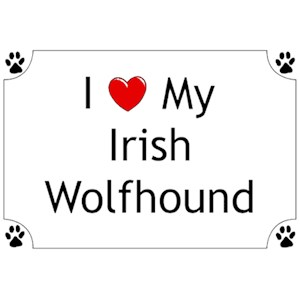 Irish Wolfhound T-Shirt - I love my
