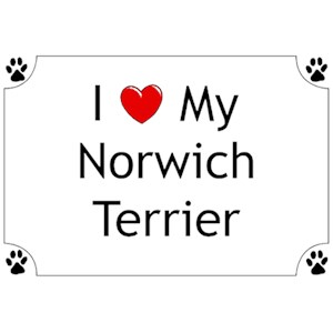 Norwich Terrier T-Shirt - I love my