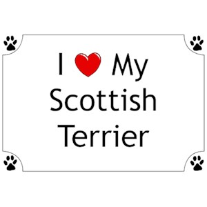 Scottish Terrier T-Shirt - I love my