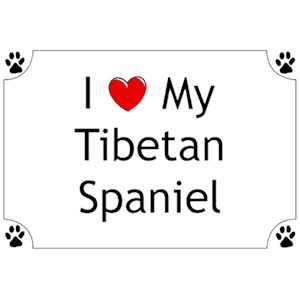 Tibetan Spaniel T-Shirt - I love my