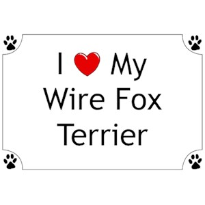 Wire Fox Terrier T-Shirt - I love my