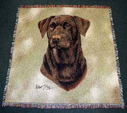 Chocolate Lab Blanket