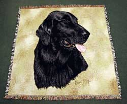 Flat-Coated Retriever Blanket