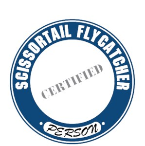 Scissor Tailed Flycatcher T-Shirt - Certified Person