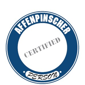 Affenpinscher T-Shirt - Certified Person