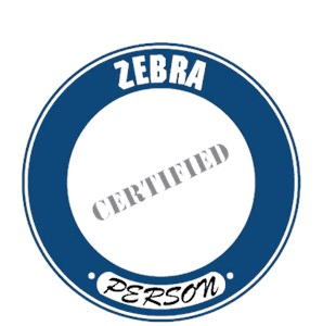 Zebra T-Shirt - Certified Person