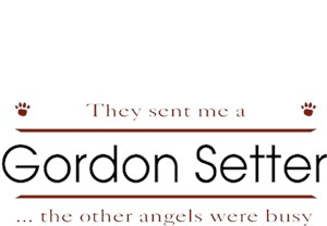Gordon Setter T-Shirt - Other Angels