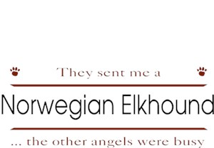 Norwegian Elkhound T-Shirt - Other Angels