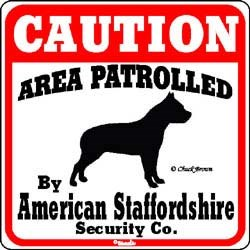 American Staffordshire Terrier Sign