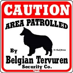 Belgian Tervuren Sign