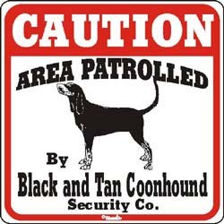 Black & Tan Coonhound Sign
