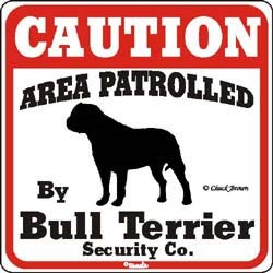 Bull Terrier Sign