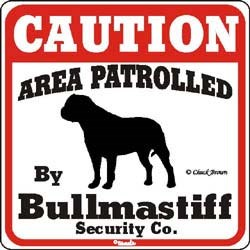 Bullmastiff Sign