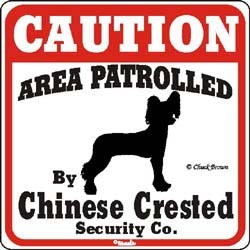 Chinese Crested Sign
