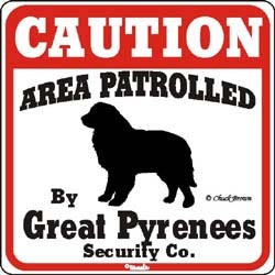Great Pyrenees Sign