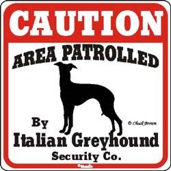 Italian Greyhound Sign