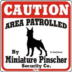 Miniature Pinscher Sign