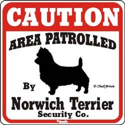 Norwich Terrier Sign