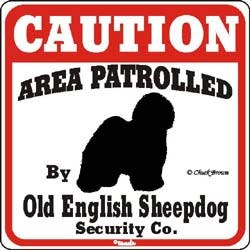 Old English Sheepdog Sign