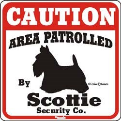 Scottish Terrier Sign
