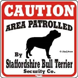 Staffordshire Bull Terrier Sign