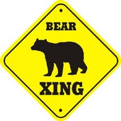 Brown Bear Sign