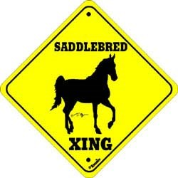 Saddlebred Horse Sign