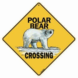 Polar Bear Sign