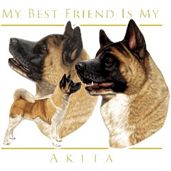 Akita T-Shirt - My Best Friend Is
