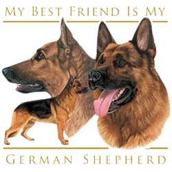 German Shepherd T-Shirt - My Best Friend Is