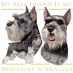 Schnauzer T-Shirt - My Best Friend Is