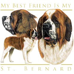 Saint Bernard T-Shirt - My Best Friend Is