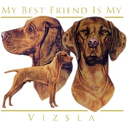 Vizsla T-Shirt - My Best Friend Is