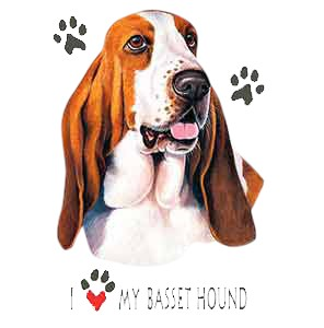 Basset Hound T-Shirt - I Love My