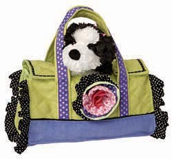 Shih Tzu Purse with Flower