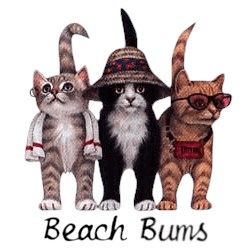 Cat T-Shirt - Beach Bums