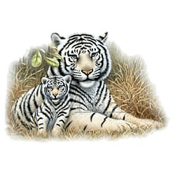 White Tiger T-Shirt - With Cub