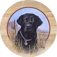 Black Lab Drink Coasters