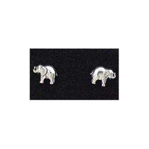 Sterling Silver Post Elephant Earrings