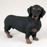 Black Dachshund Figurine