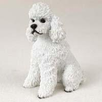White Poodle Figurine