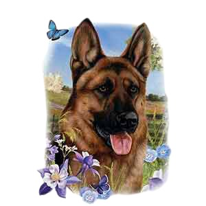 German Shepherd T-Shirt - Three Different Ages