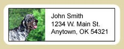 English Setter Address Labels