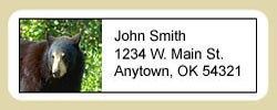 Black Bear Address Labels