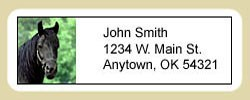 Black Horse Address Labels