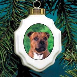 Staffordshire Bull Terrier Ornament