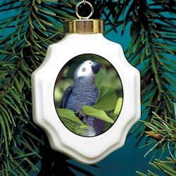 African Gray Parrot Ornament
