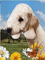 Bedlington Terrier Garden Flag