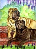 Shar Pei Garden Flag